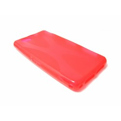 Funda Gel Tpu Sony Xperia Z1 Compact X Line Color Roja