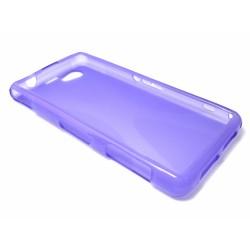 Funda Gel Tpu Sony Xperia Z1 Compact X Line Color Morada