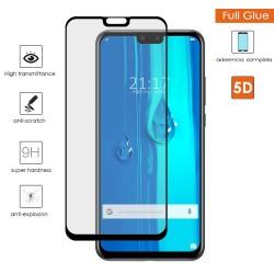 Protector Cristal Templado Completo 5D Full Glue Negro para Huawei Y9 2019 Vidrio