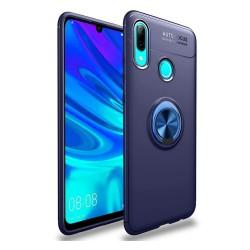 Funda Magnetica Soporte con Anillo Giratorio 360 para Huawei P Smart 2019 / Honor 10 Lite color Azul