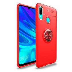 Funda Magnetica Soporte con Anillo Giratorio 360 para Huawei P Smart 2019 / Honor 10 Lite color Roja