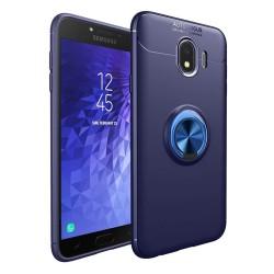 Funda Magnetica Soporte con Anillo Giratorio 360 para Samsung Galaxy j4+ Plus color Azul
