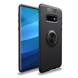 Funda Magnetica Soporte con Anillo Giratorio 360 para Samsung Galaxy S10e color Negra