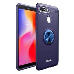Funda Magnetica Soporte con Anillo Giratorio 360 para Xiaomi Redmi 6 color Azul