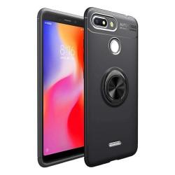 Funda Magnetica Soporte con Anillo Giratorio 360 para Xiaomi Redmi 6 color Negra
