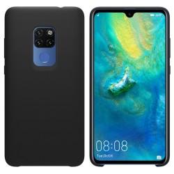 Funda Silicona Líquida Ultra Suave para Huawei Mate 20 color Negra