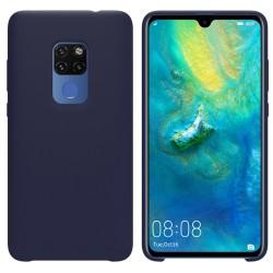 Funda Silicona Líquida Ultra Suave para Huawei Mate 20 color Azul oscura