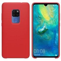 Funda Silicona Líquida Ultra Suave para Huawei Mate 20 color Roja