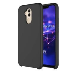 Funda Silicona Líquida Ultra Suave para Huawei Mate 20 Lite color Negra