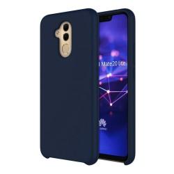 Funda Silicona Líquida Ultra Suave para Huawei Mate 20 Lite color Azul oscura