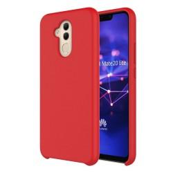 Funda Silicona Líquida Ultra Suave para Huawei Mate 20 Lite color Roja