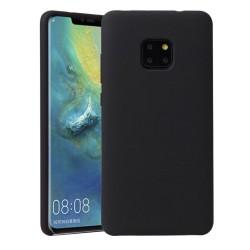 Funda Silicona Líquida Ultra Suave para Huawei Mate 20 Pro color Negra