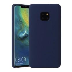 Funda Silicona Líquida Ultra Suave para Huawei Mate 20 Pro color Azul oscura