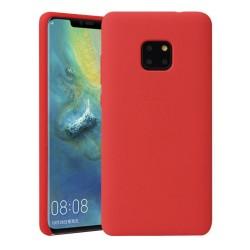 Funda Silicona Líquida Ultra Suave para Huawei Mate 20 Pro color Roja