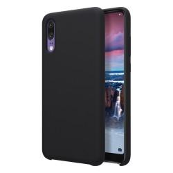 Funda Silicona Líquida Ultra Suave para Huawei P20 color Negra