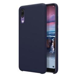 Funda Silicona Líquida Ultra Suave para Huawei P20 color Azul oscura