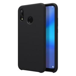 Funda Silicona Líquida Ultra Suave para Huawei P20 Lite color Negra