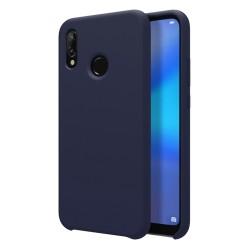 Funda Silicona Líquida Ultra Suave para Huawei P20 Lite color Azul oscura