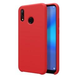 Funda Silicona Líquida Ultra Suave para Huawei P20 Lite color Roja