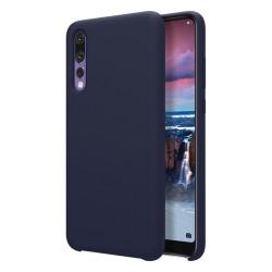 Funda Silicona Líquida Ultra Suave para Huawei P20 Pro color Azul oscura