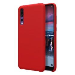 Funda Silicona Líquida Ultra Suave para Huawei P20 Pro color Roja
