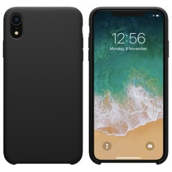 Funda Silicona Líquida Ultra Suave para Iphone Xr color Negra