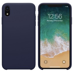 Funda Silicona Líquida Ultra Suave para Iphone Xr color Azul oscura
