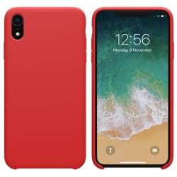 Funda Silicona Líquida Ultra Suave para Iphone Xr color Roja