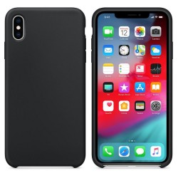 Funda Silicona Líquida Ultra Suave para Iphone Xs Max color Negra
