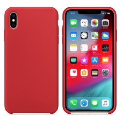 Funda Silicona Líquida Ultra Suave para Iphone Xs Max color Roja