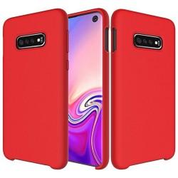 Funda Silicona Líquida Ultra Suave para Samsung Galaxy S10e color Roja
