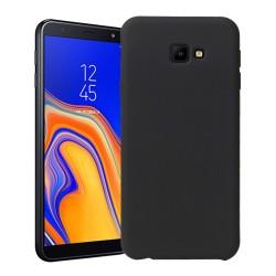 Funda Silicona Líquida Ultra Suave para Samsung Galaxy J4+ Plus color Negra
