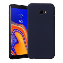 Funda Silicona Líquida Ultra Suave para Samsung Galaxy J4+ Plus color Azul oscura