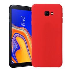Funda Silicona Líquida Ultra Suave para Samsung Galaxy J4+ Plus color Roja