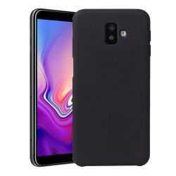 Funda Silicona Líquida Ultra Suave para Samsung Galaxy J6+ Plus color Negra