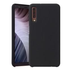 Funda Silicona Líquida Ultra Suave para Samsung Galaxy A7 (2018) color Negra