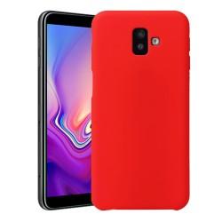 Funda Silicona Líquida Ultra Suave para Samsung Galaxy J6+ Plus color Roja