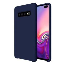Funda Silicona Líquida Ultra Suave para Samsung Galaxy S10 Plus color Azul oscura
