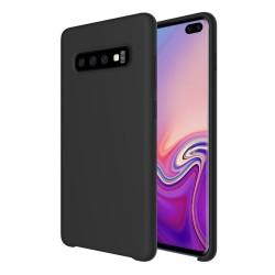 Funda Silicona Líquida Ultra Suave para Samsung Galaxy S10 Plus color Negra