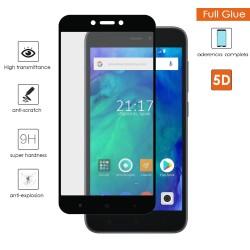Protector Cristal Templado Completo 5D Full Glue Negro para Xiaomi Redmi Go Vidrio