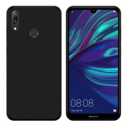 Funda Gel Tpu para Huawei Y7 2019 Color Negra