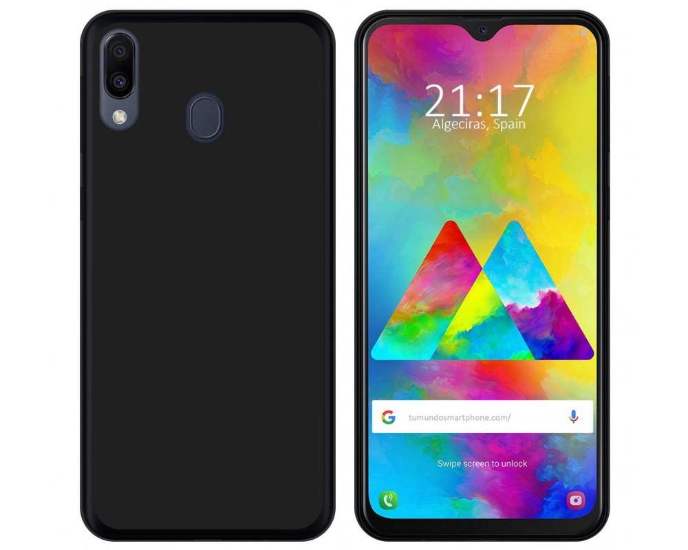 23b18fae361 Funda Gel Tpu Silicona Negra Samsung Galaxy M20  Envio Gratis