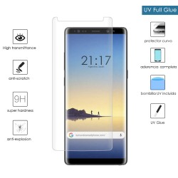 Protector Cristal Templado Completo Curvo UV Full Glue para Samsung Galaxy Note 8