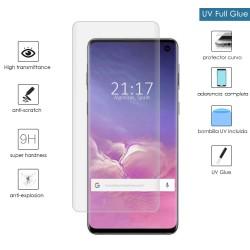 Protector Cristal Templado Completo Curvo UV Full Glue para Samsung Galaxy S10