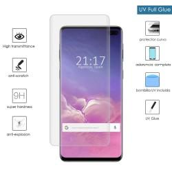 Protector Cristal Templado Completo Curvo UV Full Glue para Samsung Galaxy S10 Plus