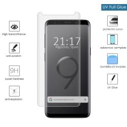 Protector Cristal Templado Completo Curvo UV Full Glue para Samsung Galaxy S9