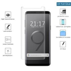 Protector Cristal Templado Completo Curvo UV Full Glue para Samsung Galaxy S9 Plus