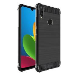 Funda Gel Tpu Anti-Shock Carbon Negra para Xiaomi Redmi Note 7