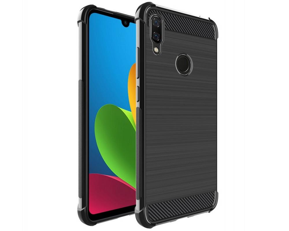 Funda Gel Tpu Anti-Shock Carbon Negra para Xiaomi Redmi Note 7