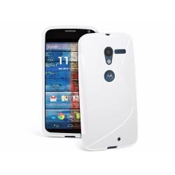 Funda Gel Tpu Motorola Moto X S Line Color Blanca